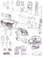 sketches set 1 by IS86