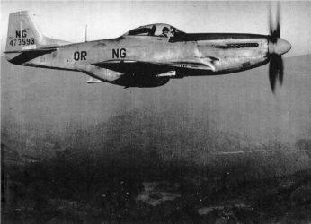 North American P-51D Mustang ORANG 142nd FG by GeneralTate