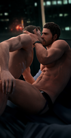 Chris Redfield and Piers Nivans by DaemonCollection