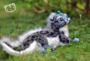 Ice Ocelot-Chibi Dragon Spirit by LisaToms