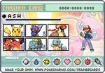 Ash Ketchum Kanto Pokemon trainer card by lightyearpig