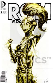 STARSHINE SPACEKNIGHT COVER by Robot1979