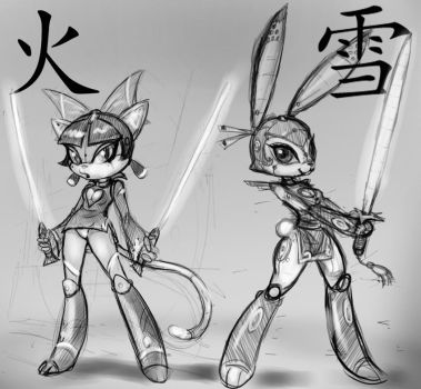 Huo and Xue sketchs by 14-bis