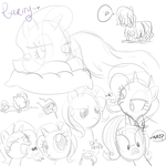 mlp sketches 4 by CosmicPonye