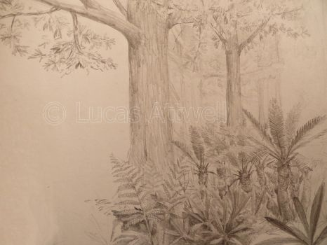 Triassic forest detailed by Lucas-Attwell
