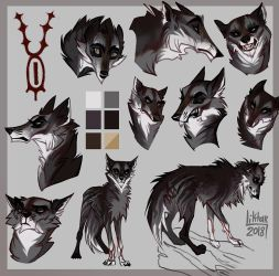 Inkognito wolf sketchpage by Liktar