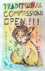 Traditional Commissions - OPEN by Foxface-x3