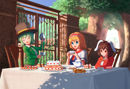 TOUHOU Mad Tea Party by Aletto-mikan