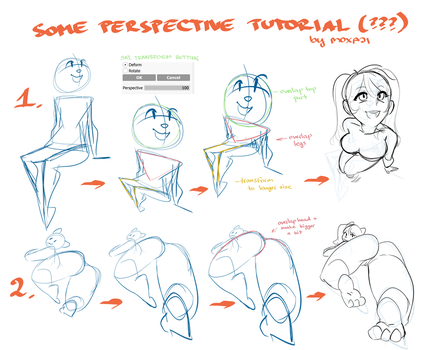 Perspective tutorial 2 by Moxaji