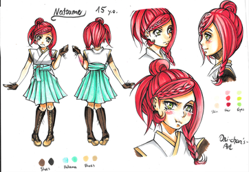 Natsume drawing sheet by Devi-chans-Art