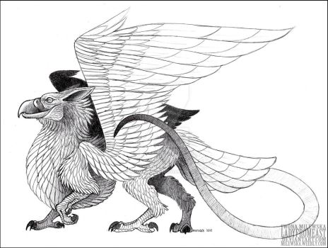 Ink Gryphon by LadyFromEast