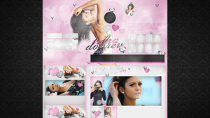 Free design with Nina Dobrev (download) by dailysmiley