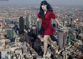 Zooey Deschanel stomps through London by AnAlternateUsername