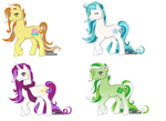 Pony Adoptables - Set 1 .:closed:. by solstice5