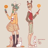 Character Design - Hipster Love by MeoMai
