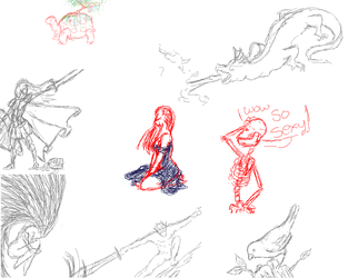 Croquis sur iScribble #2 by Gladrin