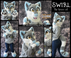 Swirl the cat -partial commission- by TrelDaWolf