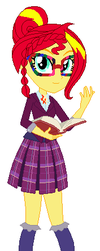 Human Sunset Shimmer by tehyat