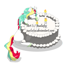 Birthday Cake by InaliaFox
