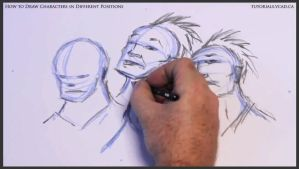 Learn to draw characters in different positions 17 by drawingcourse