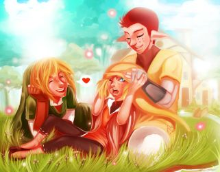 Pipit, Link and their child by Kim-SukLey