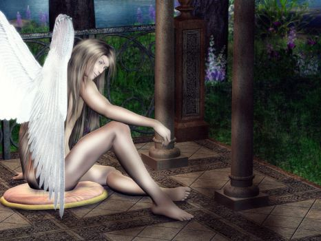 Angel in the Garden by macelene