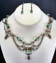 A Fine Vintage handmade necklace/earring set by MetallicVisions