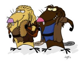 Angry dwarfs by Erry