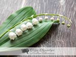 Lily of the valley  - Polymer Clay Flowers by SaisonRomantique
