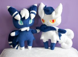 Meowstic Plushies by FollyLolly