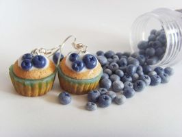 Blueberry Earrings by tyney123