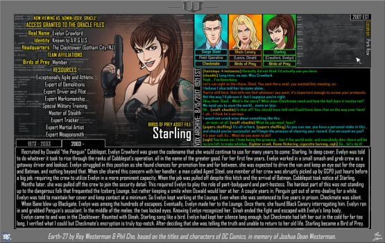 [Earth-27: Oracle Files] Evelyn Crawford (2/2) by Roysovitch