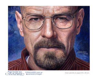 Bryan Cranston - Walter White from Breaking Bad by NestorCanavarro