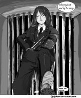 Prison female officer by qjojotaro
