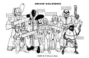 Droid Soldiers: ISOF D-1 Chalk One by JennerCarnelian
