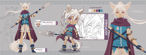 [CLOSED] Adoptable_02- Spear Warrior by Nestery
