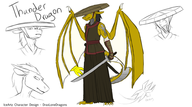 Commission: Thunder Dragon Concept by Ice-Artz