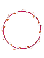 Willow Ellipse Shape Isolated #1 by flashtuchka