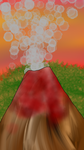 Abstract volcano by AvalonLionWolf