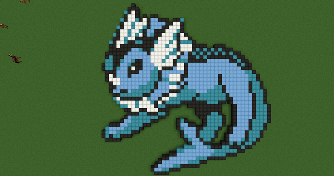Pokemon Pixel Art: Vaporeon by Nonamewayward