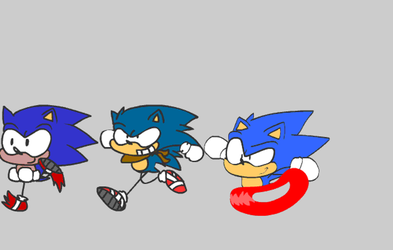 .:SONIC THE HEDGEHOG:. Animation practice by Implosion-Explosion