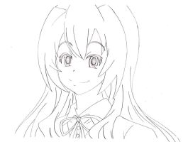 Aisaka Taiga - Sketch by Dragoon88-DragonDao