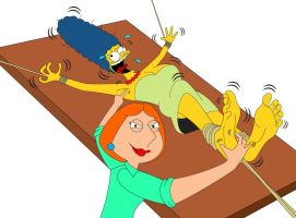 Lois Tickle Revenge on Marge by MikeTickler