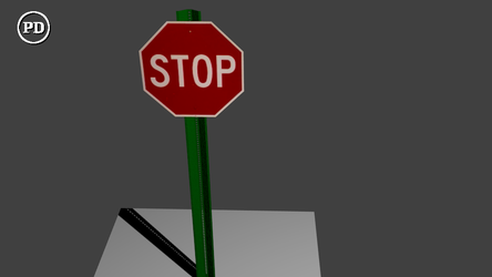 Blender Stop Sign PD/CC0 by over2sd