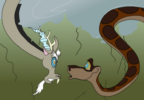 Discord vs. Kaa by LeafGrowth