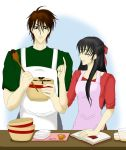 Learning how to cook by Mitz-chan