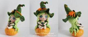 Witch in fimo 02 by Nailyce