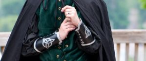 Silver Triquetra Bracers by RuehlLeatherWorks