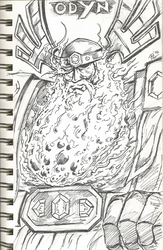 Morning Doodle of World of Warcraft's Odyn by PDG-art