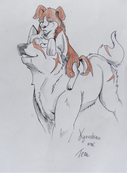 Kyoushiro and Teru by Canis-Sum